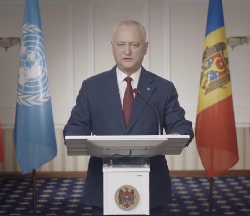 Додон выступил на открытии 75-й сессии Генеральной Ассамблеи ООН (ВИДЕО)