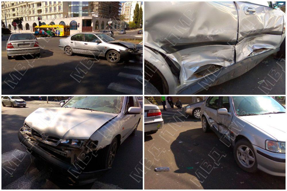 Невнимательный тираспольчанин протаранил двигавшийся навстречу автомобиль