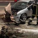 """""""Шумахер"""" на Dodge снёс дерево и сбежал с места ДТП"""