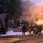 В результате пожара сгорела фура (ФОТО)