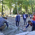 Обустройство сквера на улице Докучаева идёт полным ходом (ФОТО)