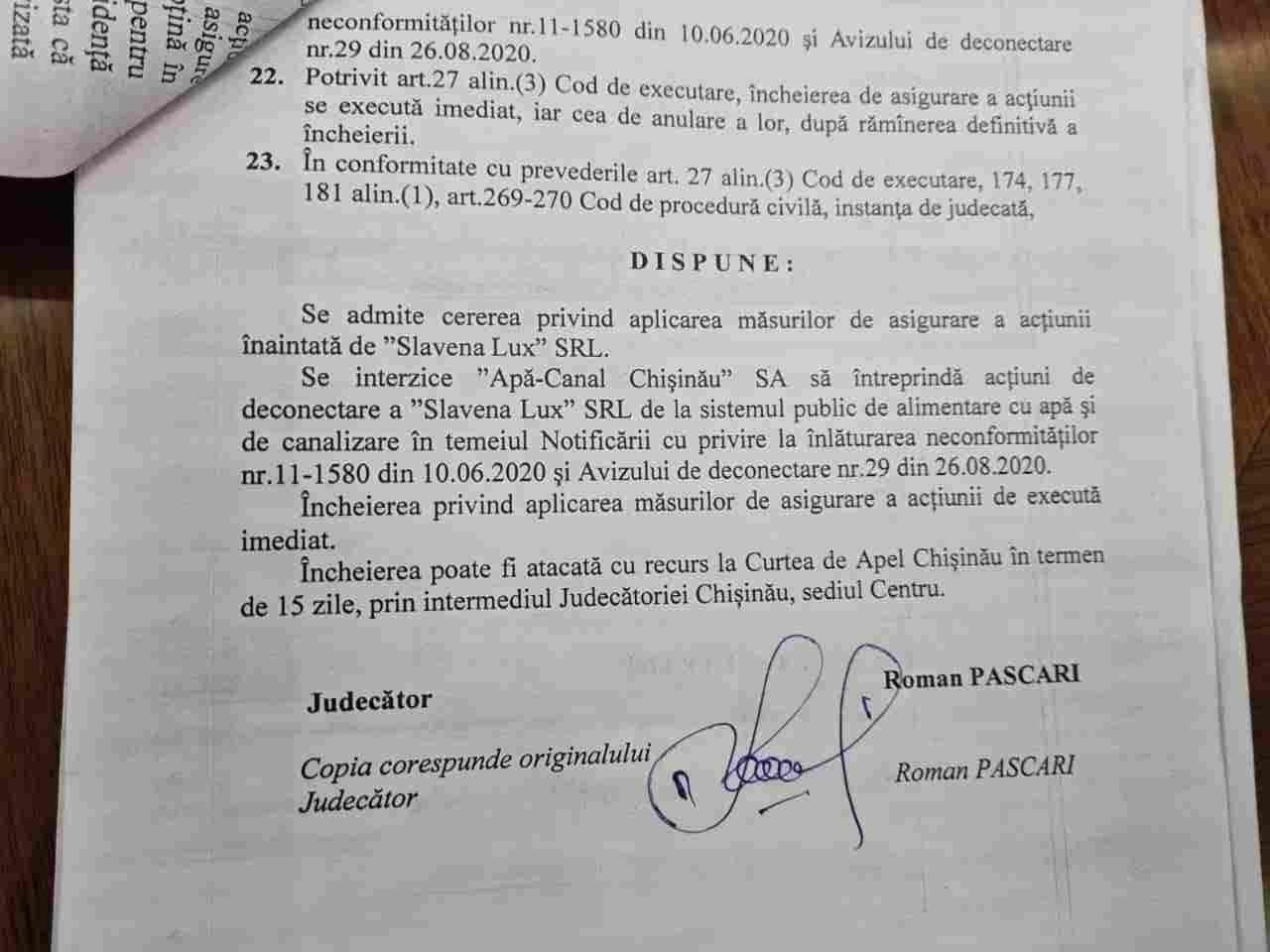 Суд запретил Apă-Canal отключать от сети виновных в вони в Кишиневе. Чебан: Безответственное решение!