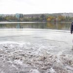 В озеро в парке «La izvor» выпустили 2 тонны рыбы