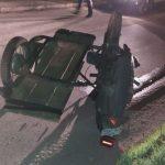 В Аненах перевернулся мотоциклист. Мужчина получил тяжёлые травмы
