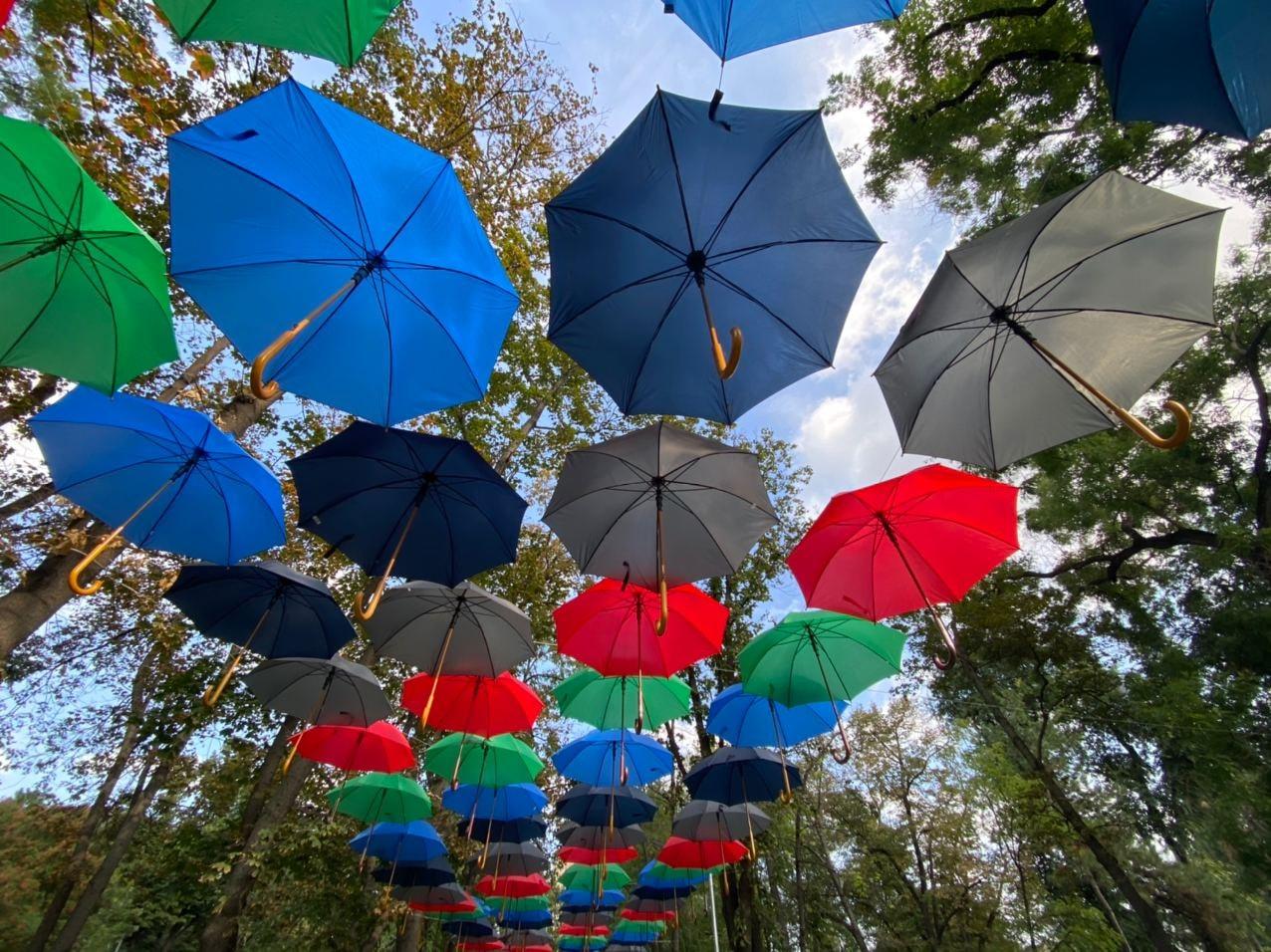 В Кишинёве впервые проходит Фестиваль зонтиков