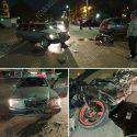 Зазевавшийся водитель при повороте не уступил дорогу и врезался в мотоцикл