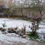 Во многих районах страны выпал первый снег (ФОТО)