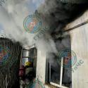 Пожар в частном доме. Хозяйка чудом не пострадала