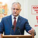 В пятницу Игорь Додон снова ответит на вопросы граждан