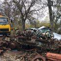 Жуткое ДТП в Аненах. Авто оказалось под грудой металла, двое пострадавших в больнице (ФОТО)