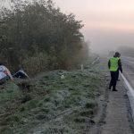 ДТП в Страшенах: машина перевернулась на скользкой дороге