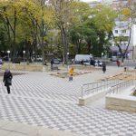 В столице появилась ещё одна благоустроенная зелёная зона – сквер на улице Докучаева (ФОТО, ВИДЕО)