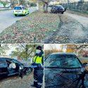 Занесло на повороте: водитель чудом не пострадал в ДТП