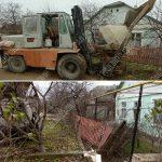 Курьёзное ДТП: неизвестный протаранил трактором забор