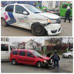 Автомобиль службы такси попал в аварию в центре столицы (ФОТО)