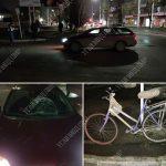 Велосипедист угодил под колёса автомобиля
