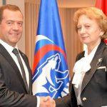 Гречаный поздравила Медведева с 19-летием со дня основания «Единой России»