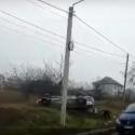 ДТП в Трушенах: автомобиль перевернулся, пассажир в больнице (ВИДЕО)