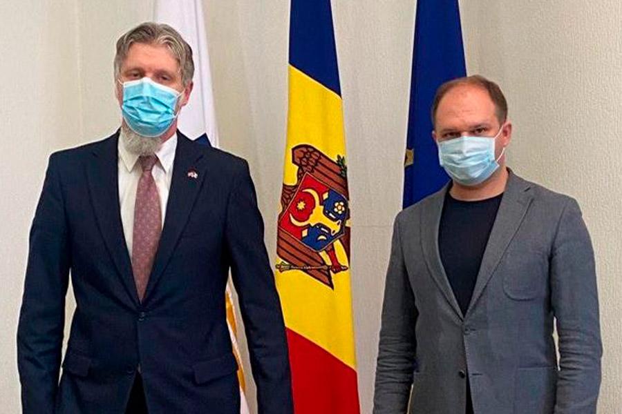 Ион Чебан на встрече с послом Латвии: Мы заинтересованы в сотрудничестве наших столиц