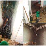 Стало скучно: пьяный мужчина развёл огонь посреди квартиры