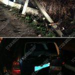 Юный автолюбитель врезался в столб, испугался и уехал