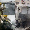 Неравнодушные граждане помогли потушить загоревшийся на дороге автомобиль
