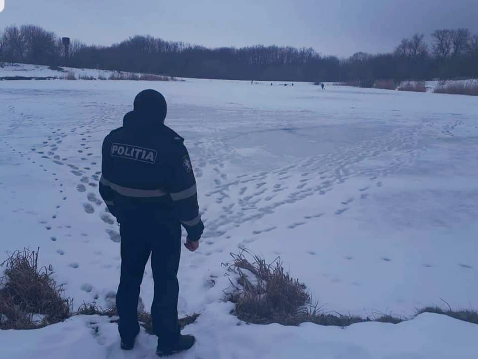 Полиция предупреждает граждан об опасности выхода на лёд