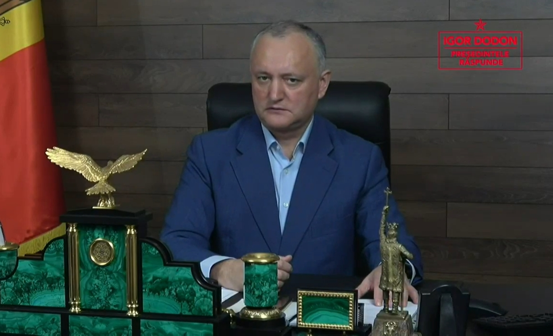 Додон назвал три сценария развития политической ситуации в Молдове (ВИДЕО)
