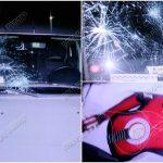 Агрессивный пассажир разбил машину такси