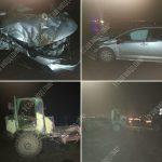 При столкновении грузовика с легковушкой пострадали три человека