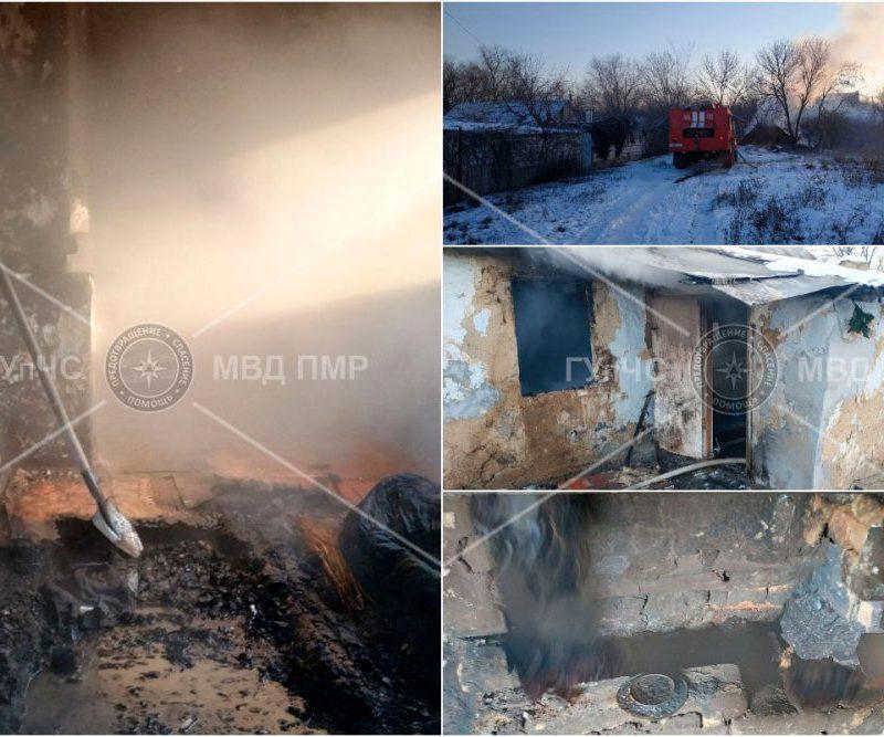 При пожаре в заброшенном доме погиб мужчина