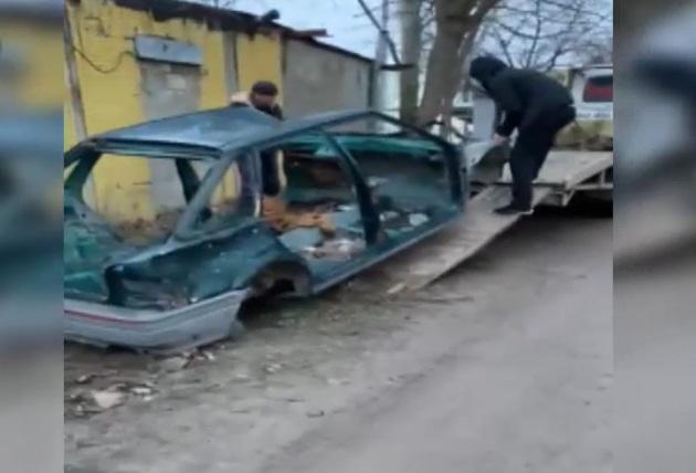 В столице рецидивист украл кузов автомобиля (ВИДЕО)