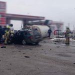 В жутком ДТП с участием автоцистерны погиб парень