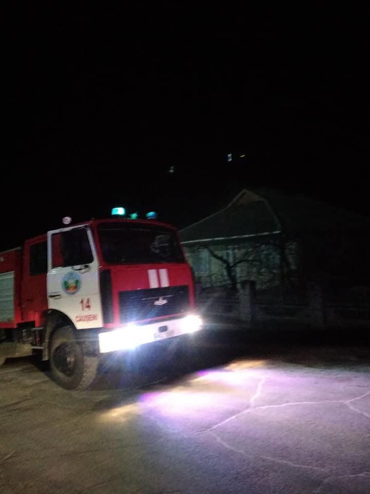 В Каушанах загорелся частный дом
