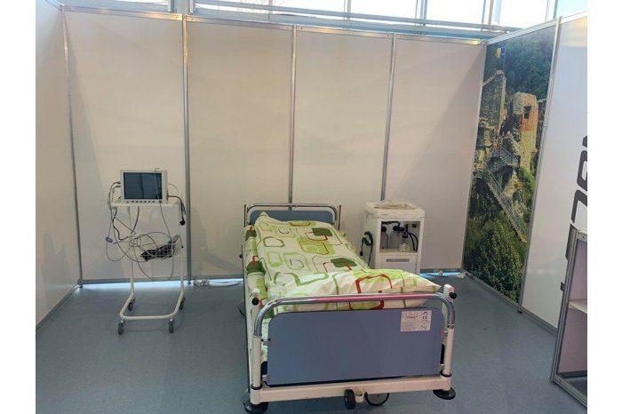 Национальная армия доставила 50 больничных коек в Центр COVID-19