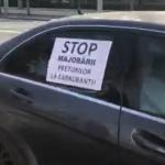Флешмоб у президентуры: возмущённые ростом цен на топливо автомобилисты посигналили Санду в знак протеста (ВИДЕО)