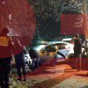 В столице пьяный таксист пытался скрыться от полиции, но въехал в дерево