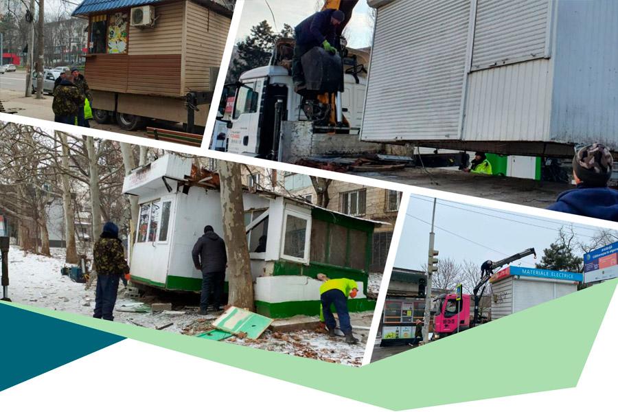 Статистика: сколько киосков и рекламных панно было убрано с улиц Кишинёва