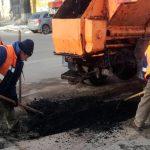 В Кишинёве проводится ямочный ремонт дорог с применением холодного асфальта