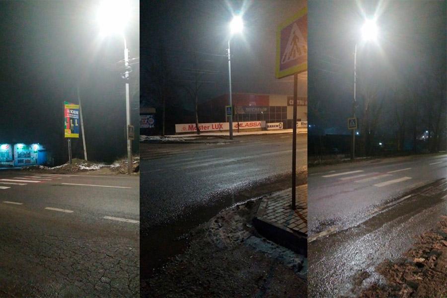На пешеходных переходах вдоль Мунчештского шоссе установили дополнительное освещение