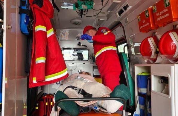 SMURD доставил пострадавшую в ДТП в Румынии женщину в молдавскую столицу