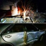 Автомобиль закрутило: водитель не справился с управлением и влетел в дерево