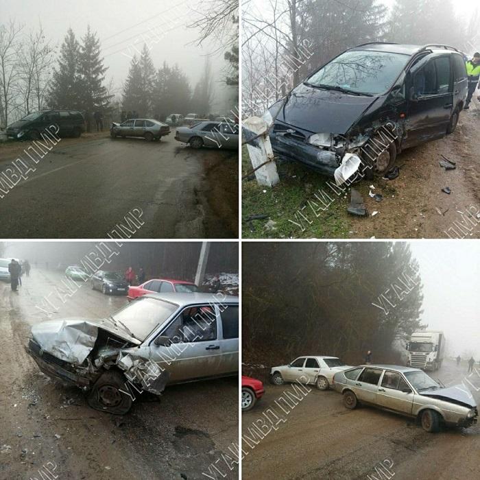 Цепное ДТП в Каменке: столкнулись сразу 4 автомобиля