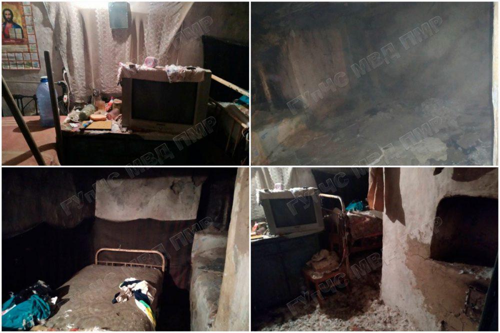 Пожарные вытащили мужчину из загоревшегося дома