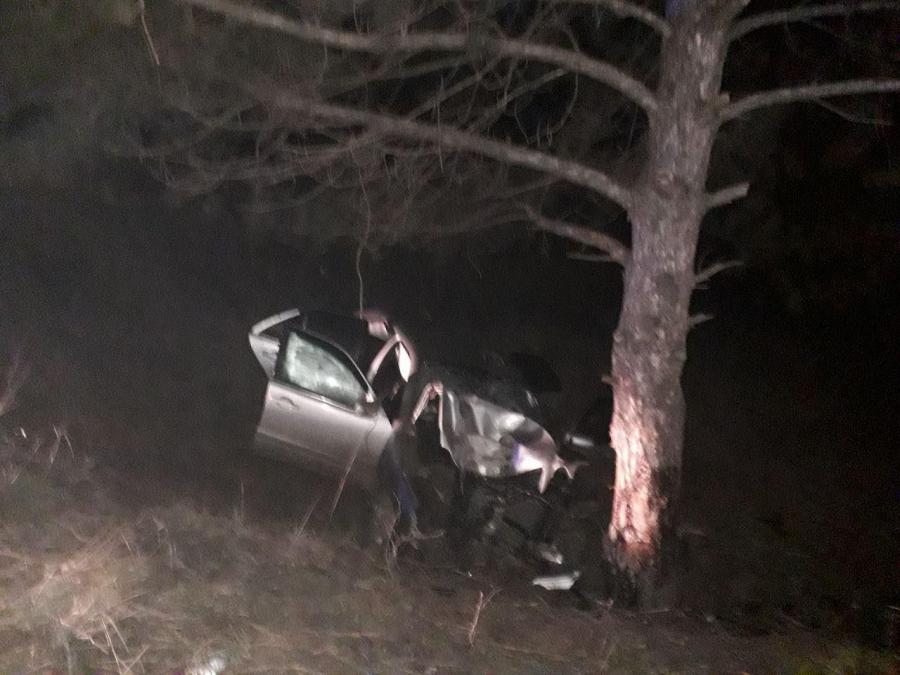 В Сынжерей машина врезалась в дерево. Двое в больнице