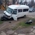 Отвлёкся от дороги: в Тирасполе произошло ДТП с участием маршрутки