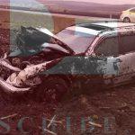 В Хынчештах Mercedes вылетел с дороги в поле и перевернулся