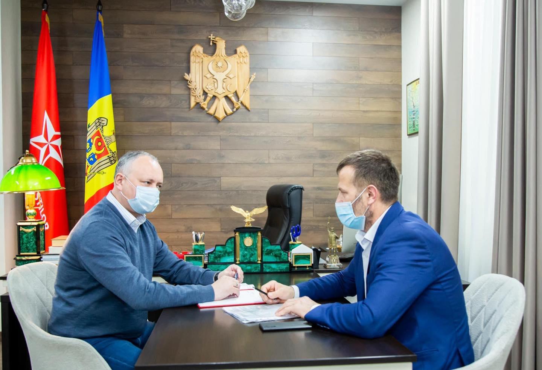 Игорь Додон встретился с мэром Комрата