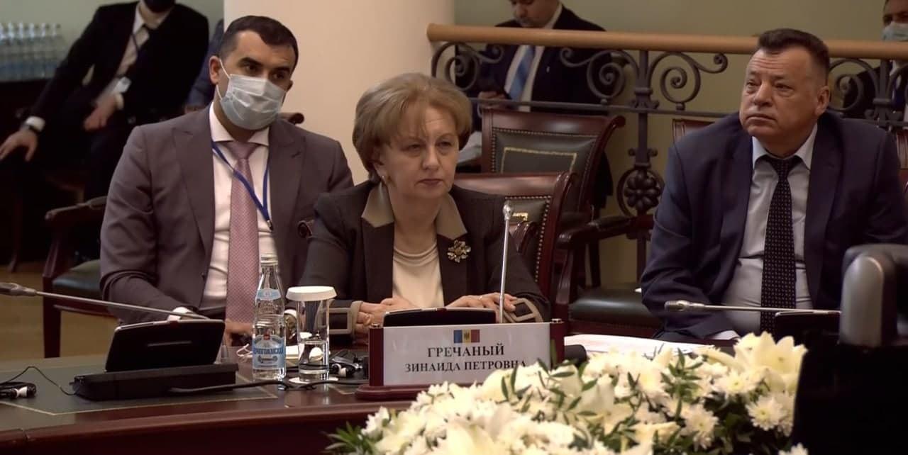 Зинаида Гречаный выступила на конференции в рамках МПА СНГ (ВИДЕО)