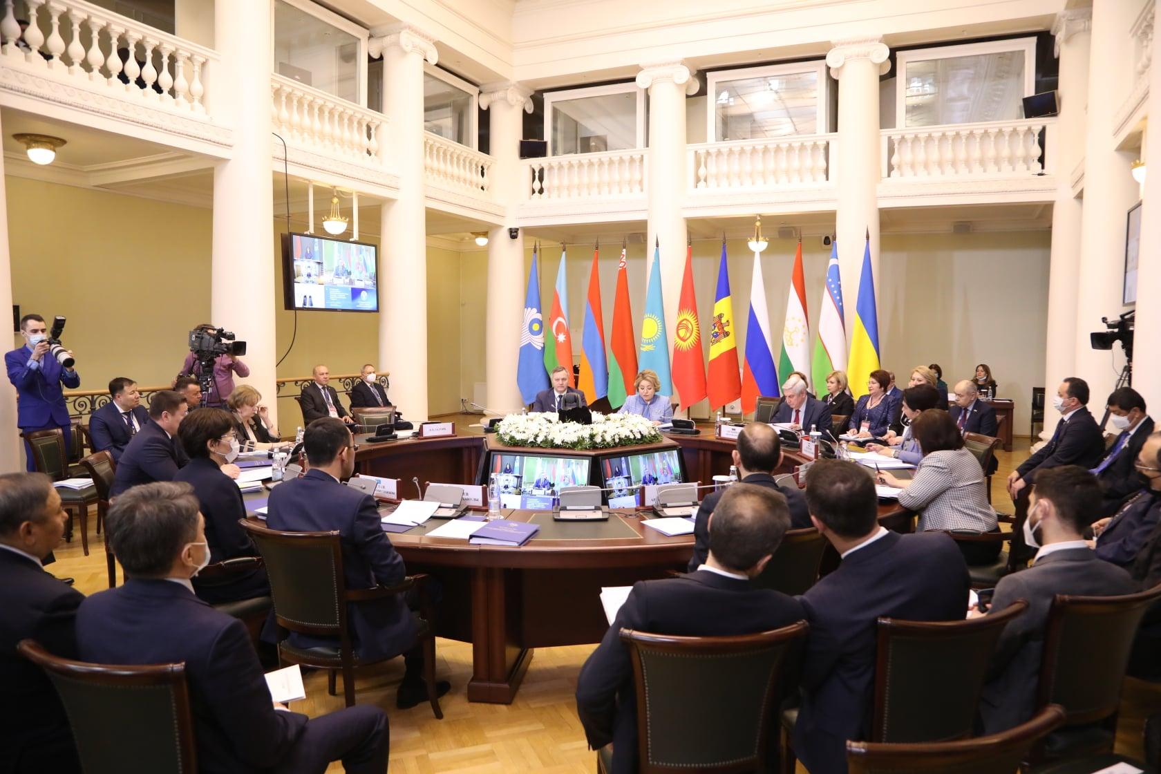Зинаида Гречаный приняла участие в заседании Совета МПА СНГ